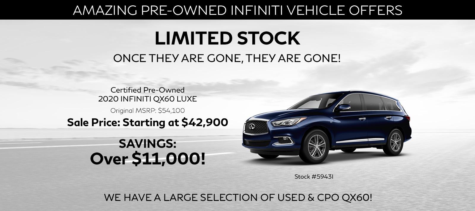 2016 INFINITI QX60 suv starting at $23,000
