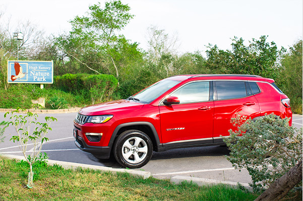 2021 jeep compass parked in a parking spot