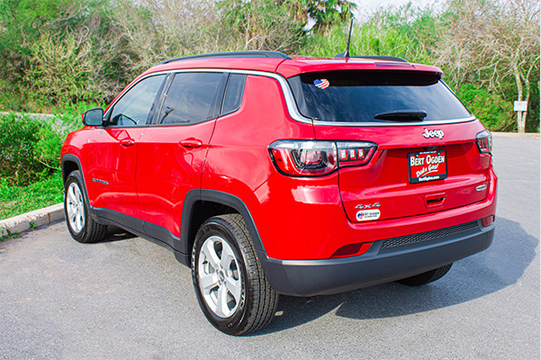 3/4 rear view of the 2021 jeep compass