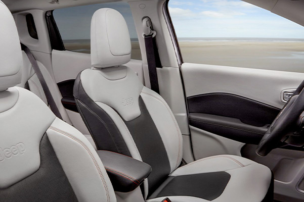 interior seating of the 2021 jeep compass