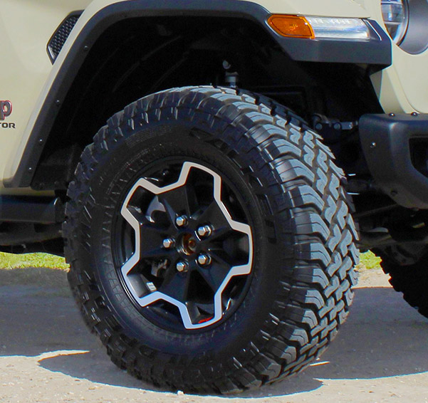 close up of jeep gladiator tires
