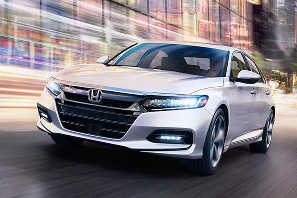 2020 Honda Accord Touring 2.0T shown in Platinum White Pearl.