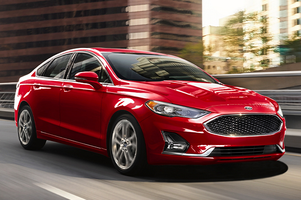 2020 Ford Fusion Hybrid on the road
