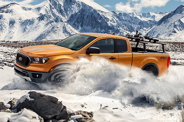 2020 Ranger Photography - Driver Side View Snowy Mountain Backdrop