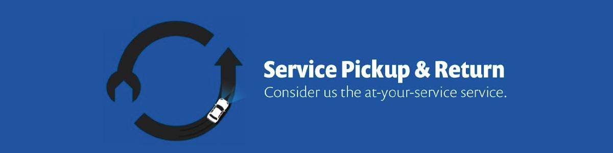 Service Pickup and REturn - Honda branding image