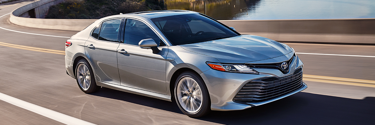 2020 Camry Hybrid XLE shown in Celestial Silver Metallic