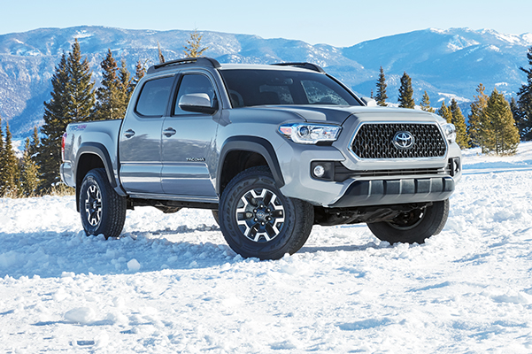 2019 Toyota Tacoma driving in snow