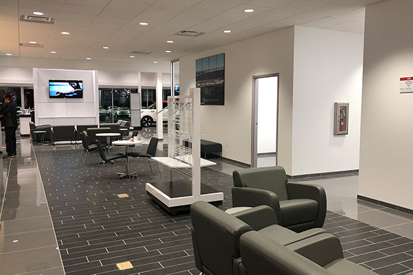 Barnes Kia Interior seating room