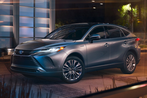 2021 Toyota Venza Limited shown in Coastal Gray Metallic with available Advanced Technology Package and Star Gaze™ fixed panoramic roof.
