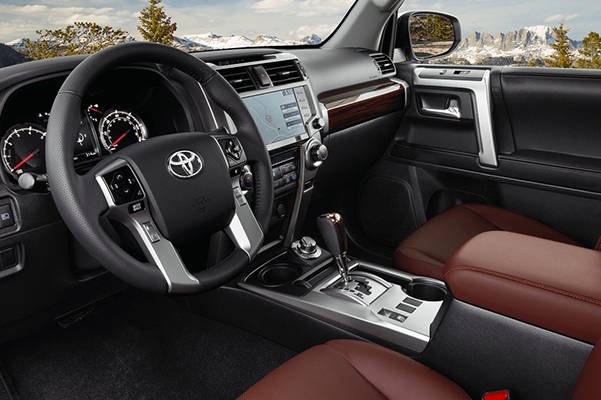 2021 Toyota 4Runner Limited 4x4 interior shown in Redwood leather trim. Options shown.