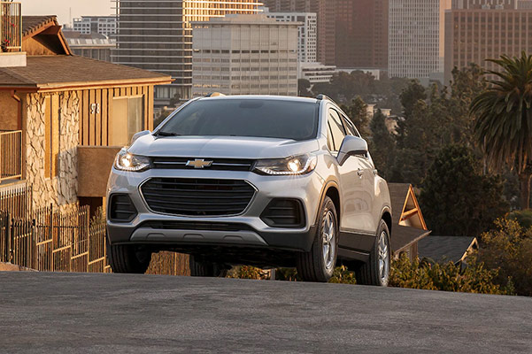 2021 Chevy Trax going up a hill