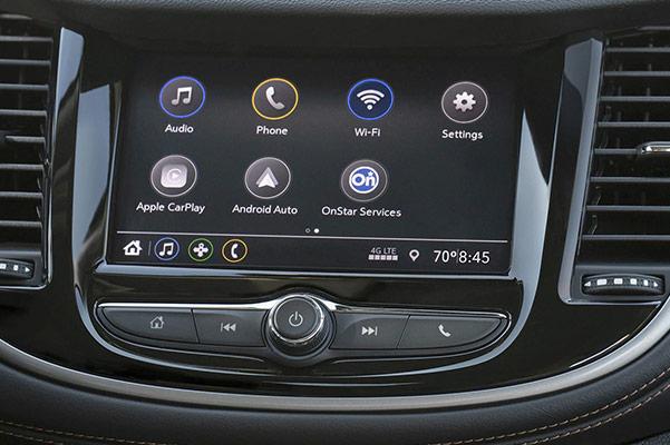 2021 Chevy Trax dash screen