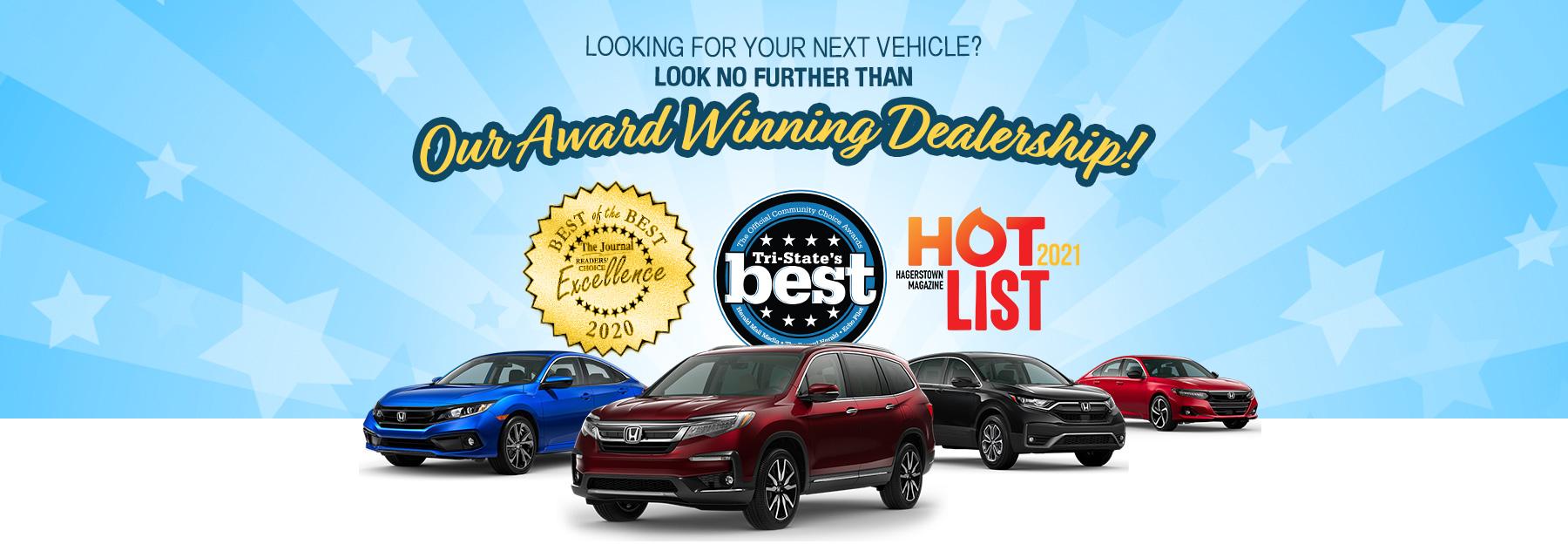 Hagerstown Honda voted No. 1 Best Auto Dealer
