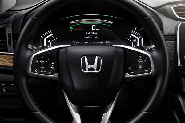 Driver Information Interface detail in the 2020 Honda CR-V Hybrid.