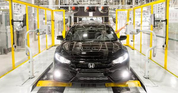 Honda being built in factory