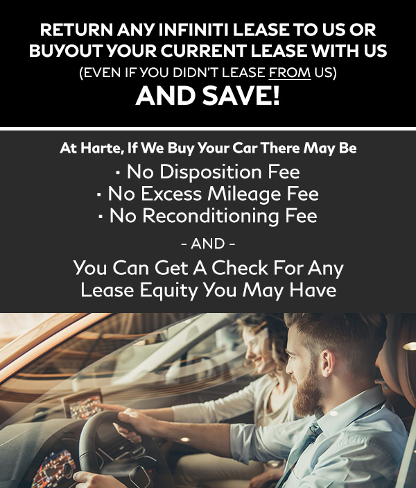 RETURN ANY INFINITI LEASE TO US (even if you didn't lease from us) AND SAVE!