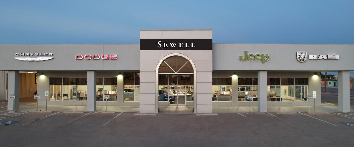 Sewell CDJR dealer front
