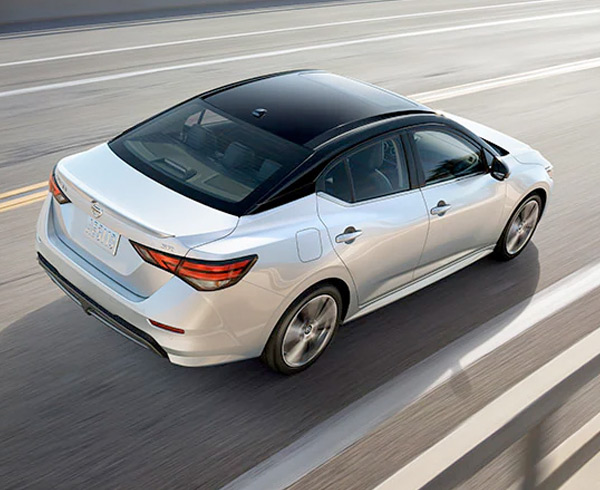 2021 Nissan Sentra driving on the road