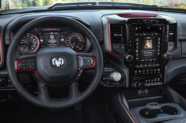 Interior of a 2020 Ram 1500 dashboard