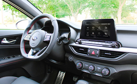 Interior view showing dash